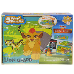 Lion Guard, The The Lion Guard 5 Pack Puzzles in Wooden Storage
