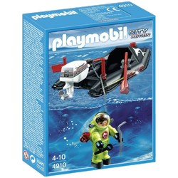 Playmobil Playmobil Deep Sea Diver with Boat [4910]