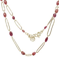 Category: Dropship Rosegold, SKU #NK308-gold, Title: Necklace 308 - Gold