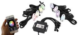 Category: Dropship Led Lights, SKU #SV1005247, Title: Street Vision StreetSMART 8-LED Glow Pod WHITE Kit - Smartphone Controlled with Brain Box IP68 12V w