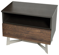 Category: Dropship Home Decor, SKU #283076, Title: Modern Dark Aged Oak Nightstand