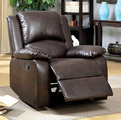 Category: Dropship Home Decor, SKU #300866, Title: Transitional Recliner, Rustic Dark Brown
