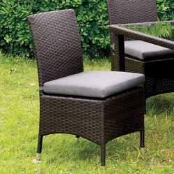 Category: Dropship Gardening, SKU #301385, Title: Contemporary Side Chair, Gray, Set Of 2