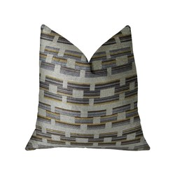 Category: Dropship Bath / Bedding, SKU #325540, Title: White and Gray Handmade Luxury Pillow 12in x 20in