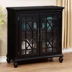 Category: Dropship Kitchen, SKU #300728, Title: Transitional Style Storage Cabinet, Black