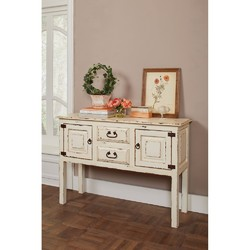 Category: Dropship Kitchen, SKU #310101, Title: Old-Style  Wooden  Accent Cabinet , White