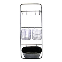 Category: Dropship Office, SKU #BM161042, Title: Practical and Functional Metal Wall Organizer, Black