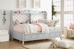 Category: Dropship Home Decor, SKU #313876, Title: Wooden Daybed with Storage, Gray