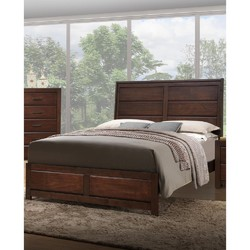 Category: Dropship Bath / Bedding, SKU #316283, Title: Wooden E.King Bed With 2 Under Bed Drawers, Walnut Finish