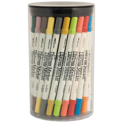 Category: Dropship School & Office Supplies, SKU #FC01050070, Title: Ranger Tim Holtz Distress Markers Tube Set Multicolor