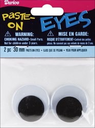 Category: Dropship Art Supplies, SKU #FC016212628, Title: Darice Paste On Wiggle Eyes 30mm Black