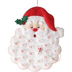 Category: Dropship Special Occasions, SKU #FC01865409, Title: Plaid Bucilla Advent Calendar Felt Applique Kit 14.5 X 18 inches Santa's Beard