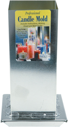 Category: Dropship General & Kids, SKU #MI01214739, Title: Yaley Professional Metal Candle Mold Square 2.75 X 6.5 Inches
