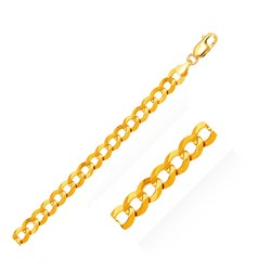 Category: Dropship Jewelry, SKU #38062-30, Title: 7.0mm 10k Yellow Gold Curb Chain, size 30''