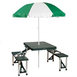 Stansport Table And Umbrella Combo
