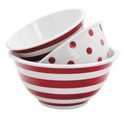 Anchor Hocking 3pc Dec.melamine Mixing Bowl