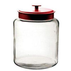 Anchor Hocking 2gal Montana Jar With Red Cover