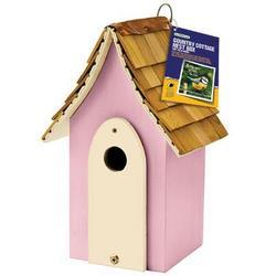 Gardman USA Country Cottage Nest Box Pink