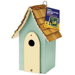Gardman USA Country Cottage Nest Box Green