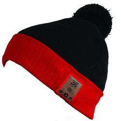 BE Headwear Feindish Bluetooth Pompom Blk Red