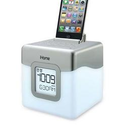 iHome Color Changing Alarm Clock Wh