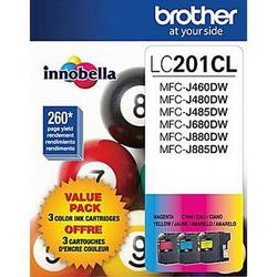 Brother International Lc201c M Y 3 Pack