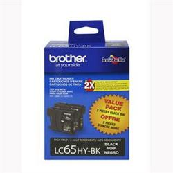 Brother International High Yield Black Ink Cart-2 Pk