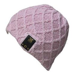 BE Headwear Lovespun Bluetooth Knitted Coral Pink