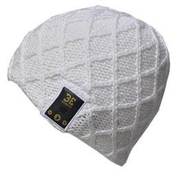 BE Headwear Lovespun Bluetooth Knitted White Out