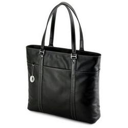 Mobile Edge Leather Tech Tote Black