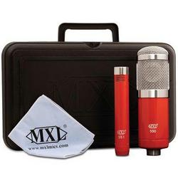 MXL 2 Pack Microphone Ensemble Red