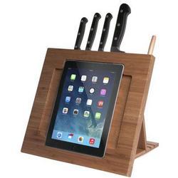CTA Digital Bamboo Knife Stand For Ipad