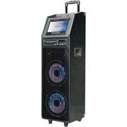"QFX Pa Speaker With 9"" Screen Karaoke"