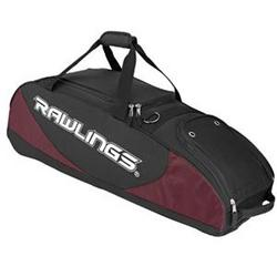 Rawlings Bat Bag Wheeled Maroon 4
