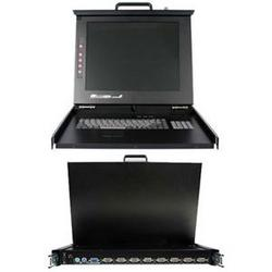 Category: Dropship Network Hardware, SKU #RACKCONS1708, Title: Rackmount LCD Console With Kvm