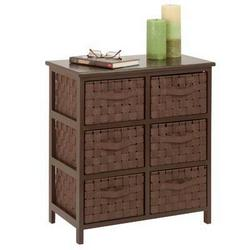 Honey-Can-Do 6drawer Storage Chest Brown