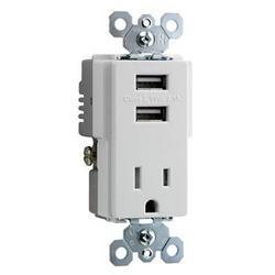Legrand Ps USB Tamper Resist Recp Wht