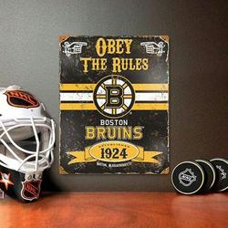 Party Animal Bruins Embossed Metal Sign