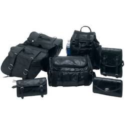 Category: Dropship Motorcycle, SKU #LUMSET, Title: 7pc Rock Design Genuine Buffalo Leather Motorcycle Luggage Set