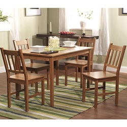 Category: Dropship Eco-home, SKU #B5PDS23399, Title: 5-Piece Eco-Friendly Solid Bamboo Dining Set