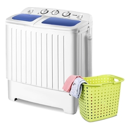Category: Dropship Eco-home, SKU #E8P24075, Title: Small 110v Compact Twin Tub Washing Machine Washer Spinner