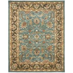 Category: Dropship Home Decor, SKU #HHBBWR83X11, Title: Handmade Heritage Blue/ Brown Wool Rug (8'3 x 11')