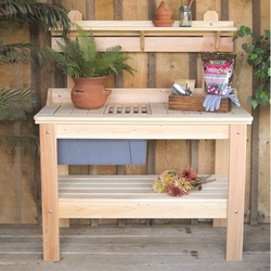Category: Dropship Outdoors/sport, SKU #HWPT2949, Title: Wooden Potting Bench Garden Table  - Made in USA