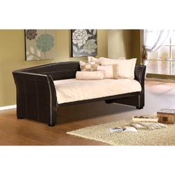 Category: Dropship Bath / Bedding, SKU #TDBE651814, Title: Twin size Brown Faux Leather Upholstered Daybeds with Wood Slats