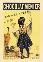 Category: Dropship Posters & Paintings, SKU #2018-22x28_VA, Title: Chocolat Menier