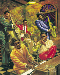 Category: Dropship Posters & Paintings, SKU #2097-22x28_BA, Title: Cool Jazz