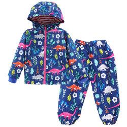 Category: Dropship Kids & Mom, SKU #SKU847517, Title: Dinosaur Print Kids Rain Coat+Pants