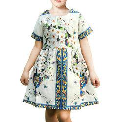 Category: Dropship Kids & Mom, SKU #SKU887555, Title: Printed Girls Party Dress