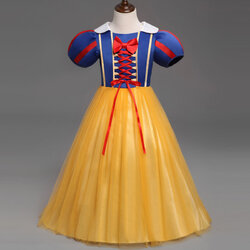 Category: Dropship Kids & Mom, SKU #SKU889647, Title: Baby Girl Snow White Cosplay Dress 0-8Y