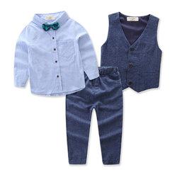 Category: Dropship Kids & Mom, SKU #SKUA07287, Title: 3Pcs Boys Formal Clothing Set 1Y-9Y